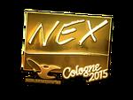 Nex - naklejka Cologne 2015 (złoto)