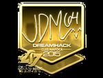 Jdm64 - naklejka Cluj'15 (złoto)