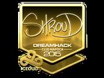 Shroud - naklejka Cluj'15 (złoto)