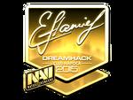 Flamie - naklejka Cluj'15 (złoto)