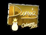 Dennis - naklejka Cologne 2015 (złoto)