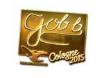 Gob b - naklejka Cologne 2015 (złoto)