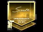 ScreaM - naklejka Cluj'15 (złoto)