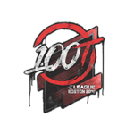 100 Thieves (Graffiti) Boston'18