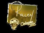 Rallen - naklejka Cologne 2015 (złoto)