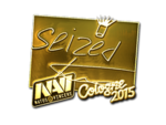 Seized - naklejka Cologne 2015 (złoto)
