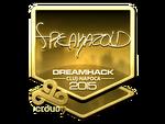 Freakazoid - naklejka Cluj'15 (złoto)