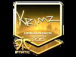 KRIMZ - naklejka Cluj'15 (złoto)