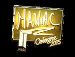 Maniac - naklejka Cologne 2015 (złoto)