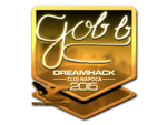 Gob b - naklejka Cluj'15 (złoto)
