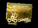 Seang@res - naklejka Cologne 2015 (złoto)