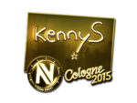 KennyS - naklejka Cologne 2015 (złoto)
