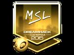 MSL - naklejka Cluj'15 (złoto)