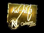 KioShiMa - naklejka Cologne 2015 (złoto)