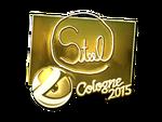 Steel - naklejka Cologne 2015 (złoto)