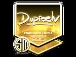 Dupreeh - naklejka Cluj'15 (złoto)