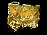 F0rest - naklejka Cologne 2015 (złoto)