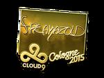 Freakazoid - naklejka Cologne 2015 (złoto)