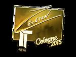 Ex6TenZ - naklejka Cologne 2015 (złoto)