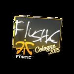 Flusha - naklejka