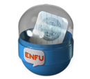 Pojemnik z naklejką Enfu