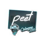 Peet - naklejka