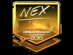 Nex - naklejka Cluj'15 (złoto)