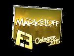 Markeloff - naklejka Cologne 2015 (złoto)