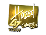 Hazed - naklejka Cologne 2015 (złoto)