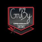 GruBy - naklejka Cluj'15