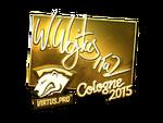 TaZ - naklejka Cologne 2015 (złoto)