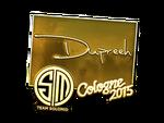Dupreeh - naklejka Cologne 2015 (złoto)