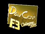 DavCost - naklejka Cologne 2015 (złoto)