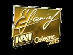 Flamie - naklejka Cologne 2015 (złoto)