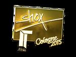 Shox - naklejka Cologne 2015 (złoto)