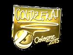 Coldzera - naklejka Cologne 2015 (złoto)