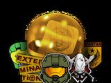 Kapsuła z naklejkami Halo