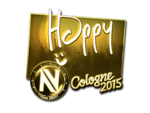 Happy - naklejka Cologne 2015 (złoto)