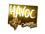 Havoc - naklejka Cologne 2015 (złoto)
