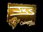 Jks - naklejka Cologne 2015 (złoto)