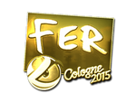 Fer - naklejka Cologne 2015 (złoto)