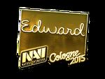 Edward - naklejka Cologne 2015 (złoto)