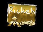Rickeh - naklejka Cologne 2015 (złoto)