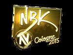 NBK- - naklejka Cologne 2015 (złoto)