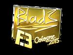B1ad3 - naklejka Cologne 2015 (złoto)