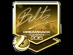 Boltz - naklejka Cluj'15 (złoto)