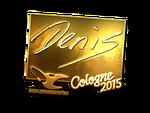 Denis - naklejka Cologne 2015 (złoto)