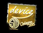 Device - naklejka Cologne 2015 (złoto)
