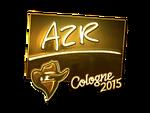 AZR - naklejka Cologne 2015 (złoto)