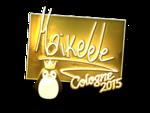 Maikelele - naklejka Cologne 2015 (złoto)